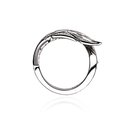 feather ring in white gold david marshall