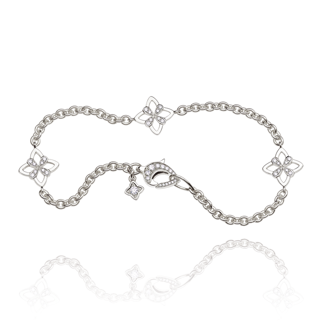 Legacy Bracelet in White Gold - Small